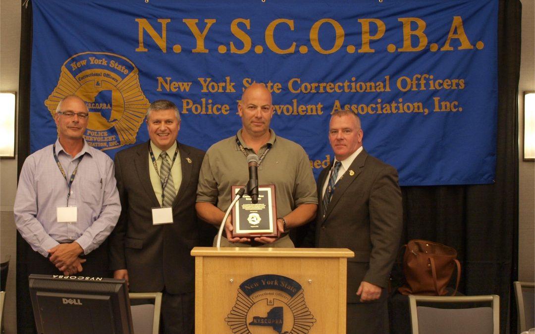 CO Brian Walser, Wyoming CF, receives Valor Award