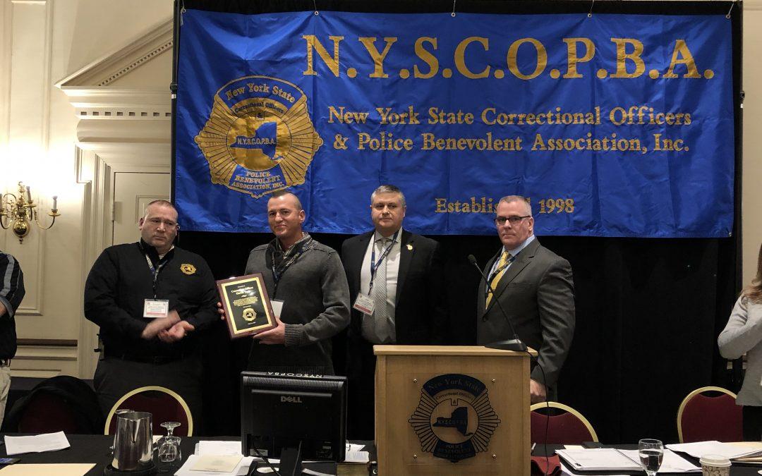 CO David True, Wende CF, receives Valor Award