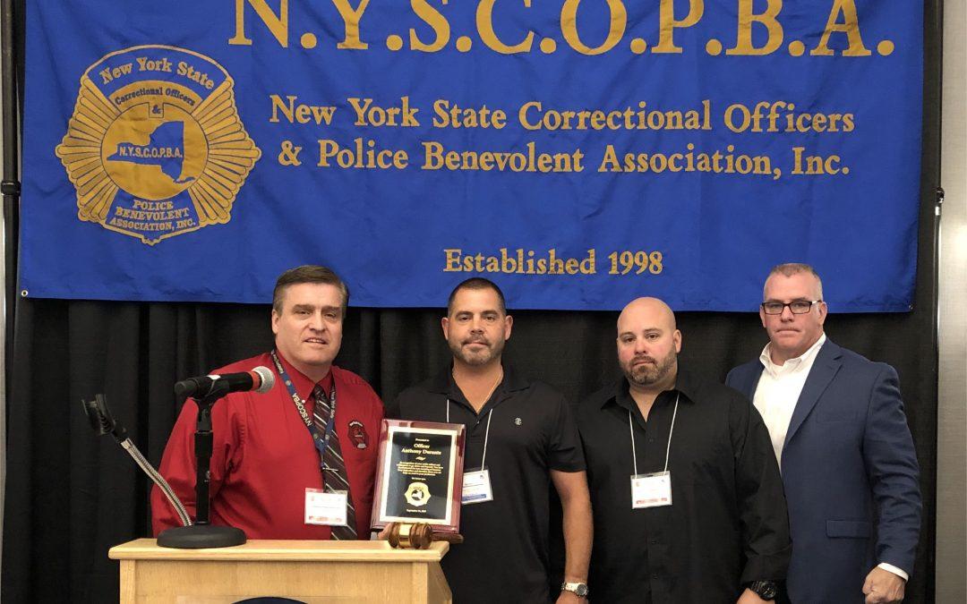 CO A. Durante, Mohawk CF, receives Valor Award