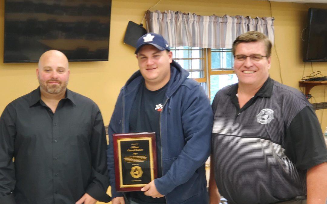 CO G. Kalies, Mohawk CF, receives Valor Award